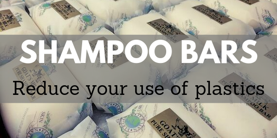 Reduce your use of plastic with shampoo bars